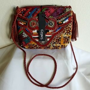 Gypsy 05 multi-color boho embellished handbag S